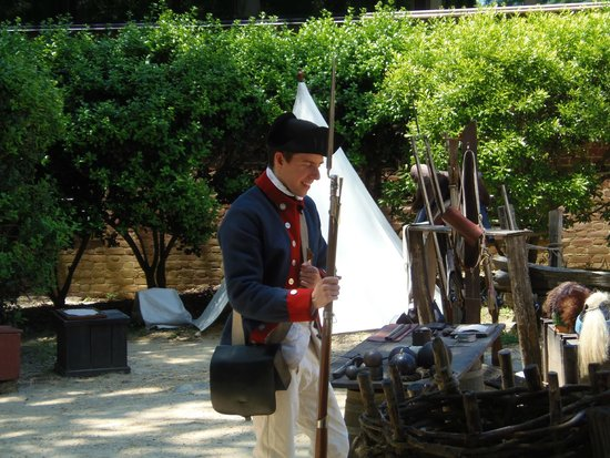 American Revolution Museum at Yorktown: Musket demonstration