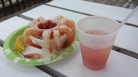 Toni & Joe's Patio: Shrimp and Rum Runner