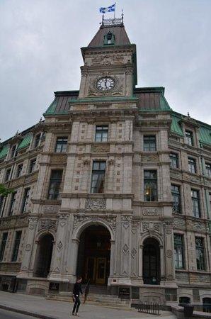 Old Quebec: A rustic building