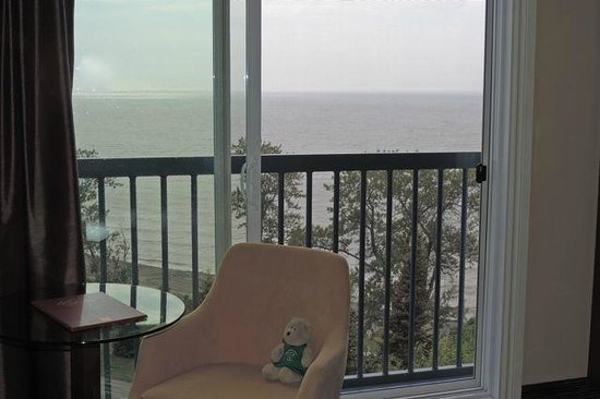 Auberge de la Pointe : Faux balcony view from window