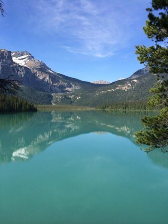 Emerald Lake Lodge: our balcony view-WOW!!!!!