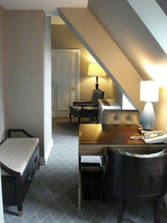 Fairmont Le Chateau Frontenac: Up in the attic.