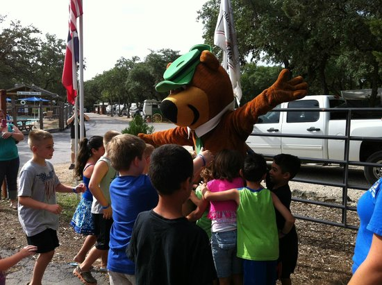 Yogi Bear's Jellystone Park Camp-Resort Hill Country: Morning Pledge with Yogi