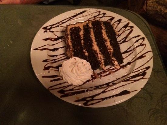 Casa Rustica: homemade chocolate/peanut butter cake