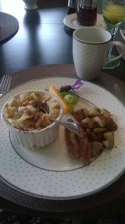 Stone Wood Bed and Breakfast : Great food and presentation.