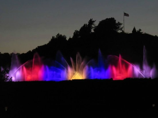 The Musical Fountain: Colorful fountain