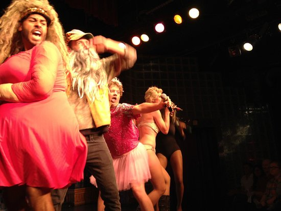 Esther's Follies : Hilarious skit- Cast poking fun as Miley Cyrus, Duck Dynasty, Honey Boo Boo, Mamma June twerking