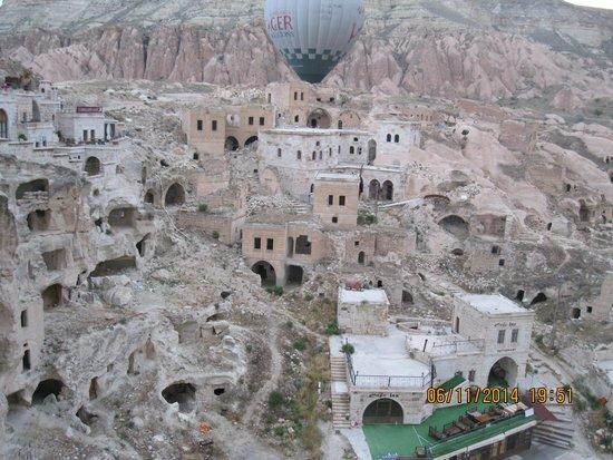 Cappadocia Voyager Balloons: Göreme Landscape from our Voyager Balloon