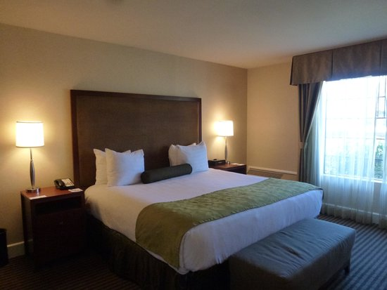 Best Western Plus Stevenson Manor : Comfy King Bed