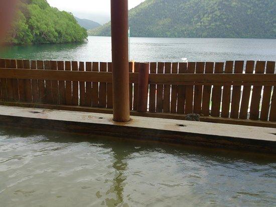 Hotel Fusui: 露天風呂から然別湖を