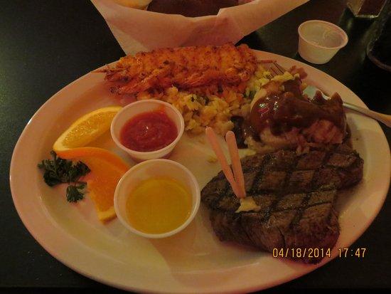 Backdoor Steak House: Steak / Shrimp Special