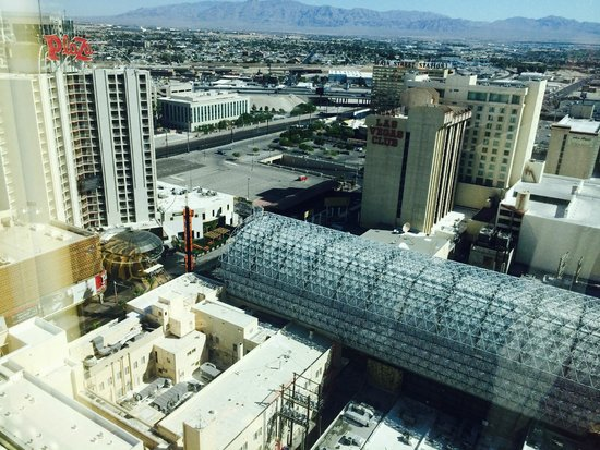 Golden Nugget Hotel & Casino: View of Fremont Street from room 24209
