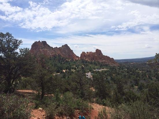 Garden of the Gods: View from atop the Palmer Trail.