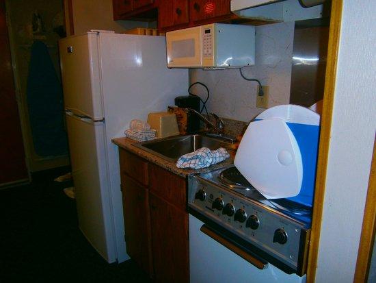 Dayton House Resort: Kitchen Efficiency Area