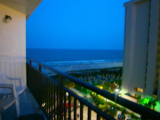 Dayton House Resort: View from first part of our balcony- king angle oceanview efficiency room 849 south building