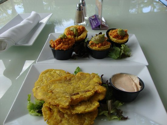 The Condado Plaza Hilton: Chicken Mofongo & tostones (both are made from plantains, don't order both at the same time)