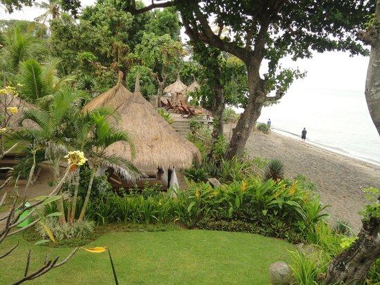 Sunset House Lombok: A lovely garden and gazebo
