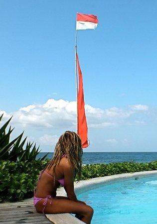 Komune Resort, Keramas Beach Bali : All day view of the surf