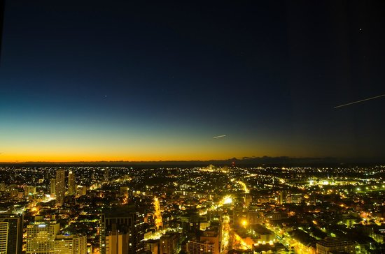 Meriton Serviced Apartments World Tower: sunset view from 71 floor