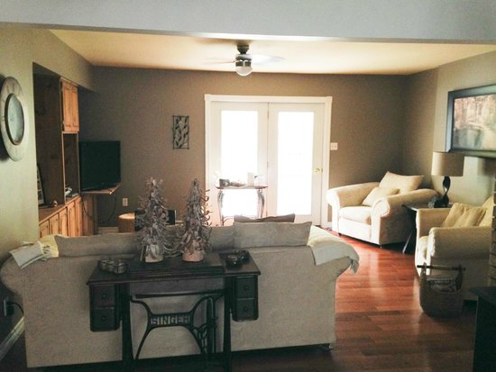 The Purple Frog Bed and Breakfast: Living room