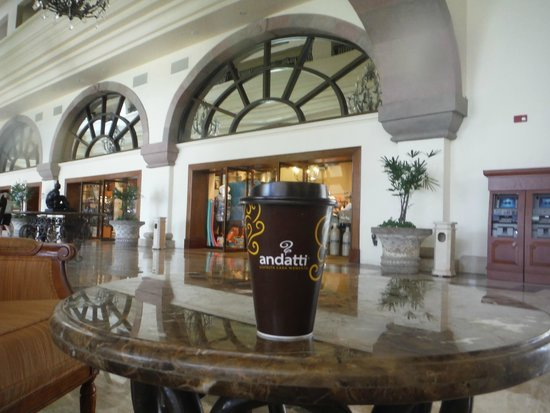 Marriott Cancun Resort: Drinking Oxxo Coffee