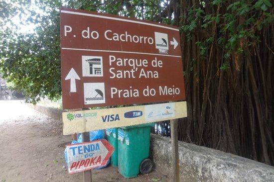 Praia do Cachorro : Placa indicativa