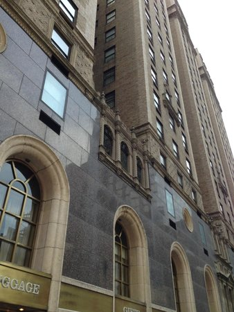 The Michelangelo Hotel : facade of hotel