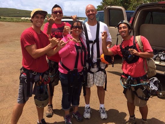Koloa Zipline: Here we are with our awesome guides!