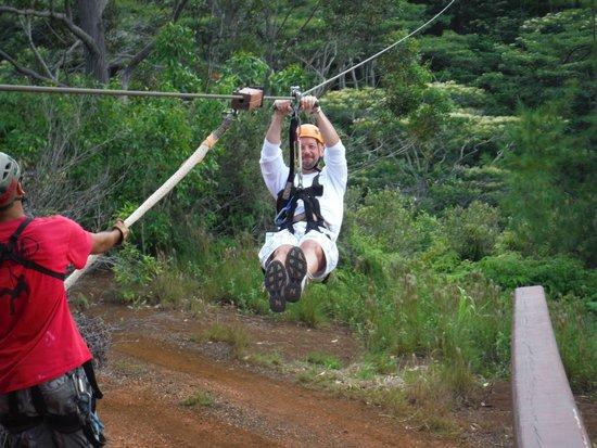 Koloa Zipline: Flying!