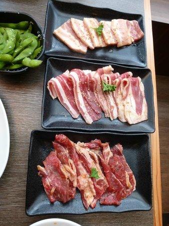 Gyu Kaku Vancouver: Some of te BBQ meat