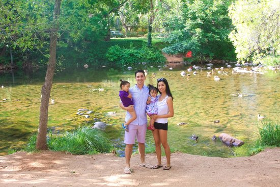 L'Auberge de Sedona: duck feeding at the creek