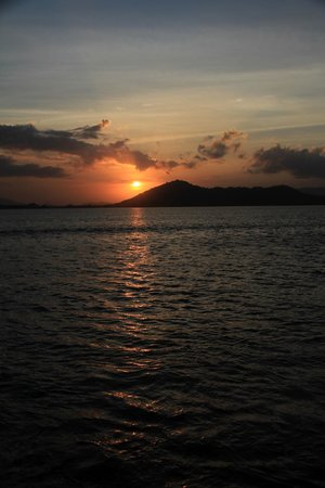Krisna Bungalows and Restaurant: Sunrise from Krisna Bungalow