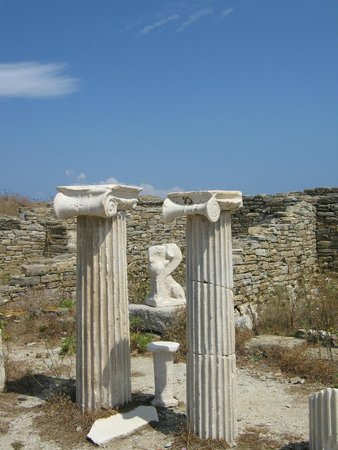 Archaeological Site of Delos: Ionian pillars