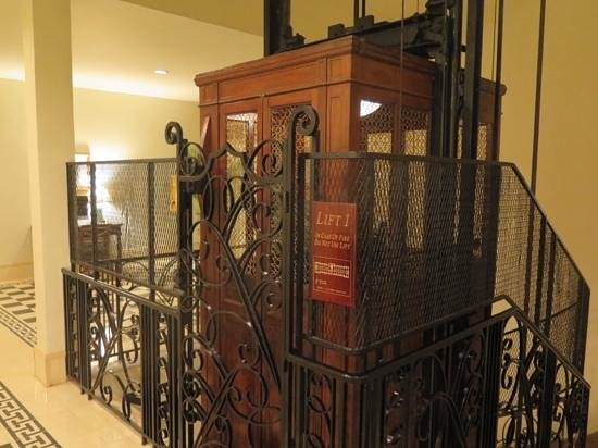 Raffles Grand Hotel d'Angkor: the main lift in the lobby