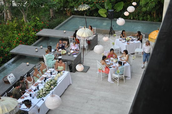 Fairmont Sanur Beach Bali: wedding venue outside restaurant