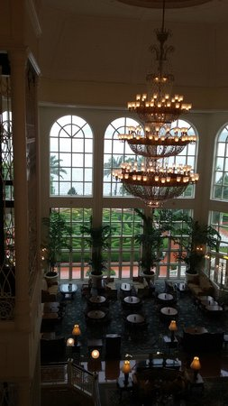 Hong Kong Disneyland Hotel: view from the lobby