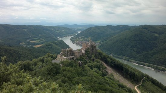 Burgruine Aggstein: Climb up to the highest rock outcrop and you'll be rewarded with this view.