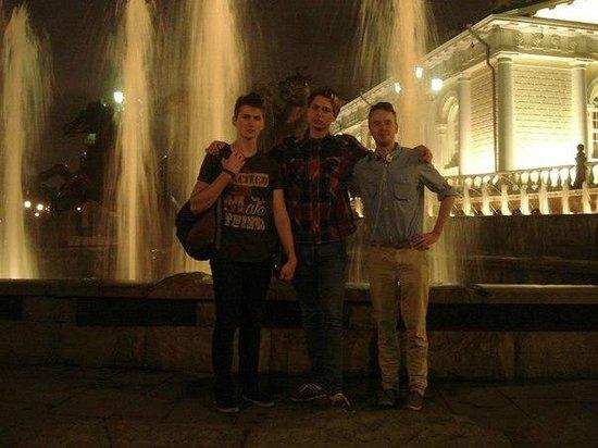 Roter Platz: перед красной площадью стояли 4 коня но за нами их не видно...