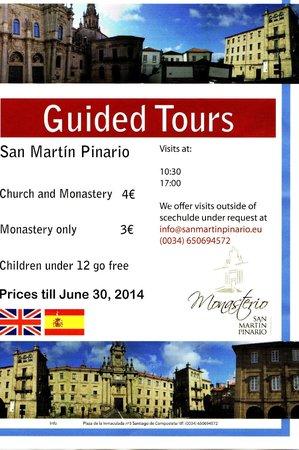 Monasterio de San Martín Pinario: visita guidata + volantino