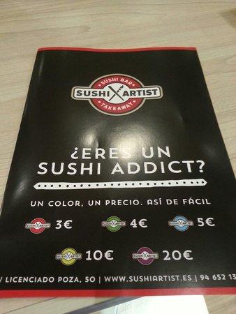 Sushi Artist: Precios Carta