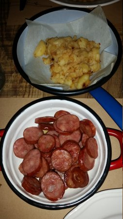 the sausages and mashed potatoes dish from Uje Oil Bar