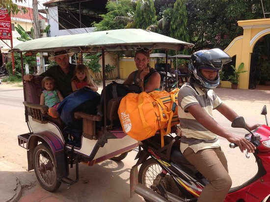 The Villa Siem Reap : hotel arranges for great tuk tuk drivers!
