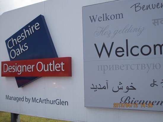 Cheshire Oaks Designer Outlet: a mark