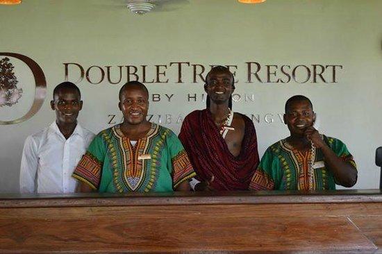 DoubleTree by Hilton Resort Zanzibar - Nungwi : Friendly front office staff