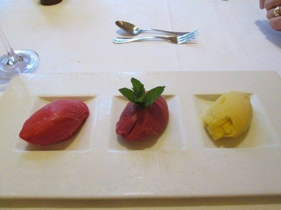 Dessert Three Flavours Of Ice Cream And Sherbet Picture