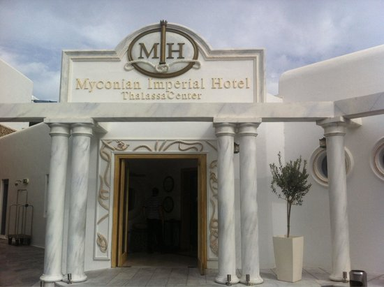 Myconian Imperial Hotel & Thalasso Centre : Ingresso