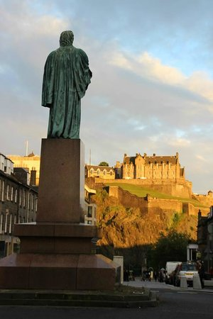 The Edinburgh Townhouse: What we see when coming out of Townhouse.