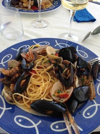 Ristorante Bagni Delfino: spaghetti ai frutti di mare