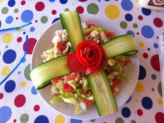 Golden Moon Apart Hotel: one of the tastiest cesar salads ever