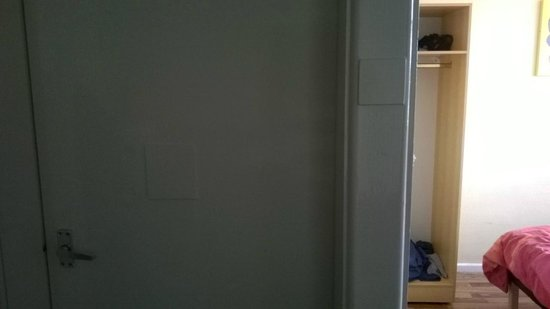 Pontins Southport Holiday Park: bedroom doors and frame